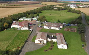 An aerial view of Fenton Barns